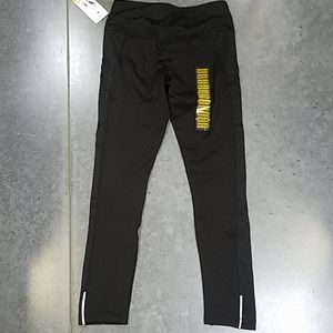 Active life black fleece-lined leggings